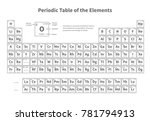 periodic table of elements....   Shutterstock . vector #781794913