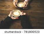 latte coffee art and people...   Shutterstock . vector #781800523