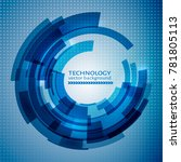 blue abstract technology circle ... | Shutterstock .eps vector #781805113
