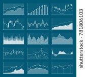 business data financial charts. ... | Shutterstock . vector #781806103