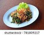 Small photo of Spicy Shrimp Suaeda maritime, Thai food