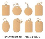 different empty shop tags with... | Shutterstock . vector #781814077