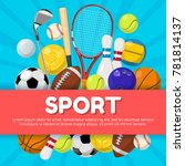 sport poster design of... | Shutterstock . vector #781814137