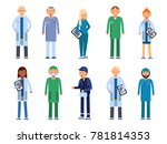 medical personal. male and... | Shutterstock . vector #781814353