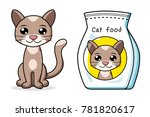 cat and pet food bag isolated | Shutterstock .eps vector #781820617