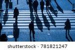 silhouette people walk on... | Shutterstock . vector #781821247
