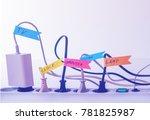 convenient life hack with...   Shutterstock . vector #781825987