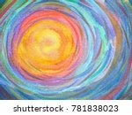colorful spiral sun power...   Shutterstock . vector #781838023