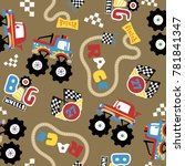 vector seamless pattern with... | Shutterstock .eps vector #781841347