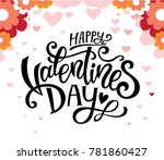 valentines day party design.... | Shutterstock .eps vector #781860427