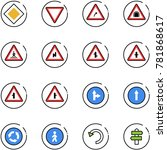 line vector icon set   main... | Shutterstock .eps vector #781868617