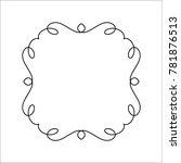 elegant frame.vector... | Shutterstock .eps vector #781876513