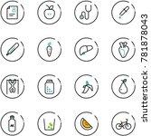 line vector icon set   patient... | Shutterstock .eps vector #781878043