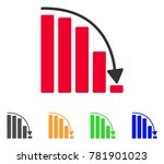 falling acceleration chart icon.... | Shutterstock .eps vector #781901023