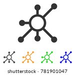 network node icon. vector... | Shutterstock .eps vector #781901047