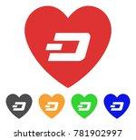 lovely dash heart icon. vector... | Shutterstock .eps vector #781902997