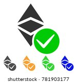 valid ethereum classic icon.... | Shutterstock .eps vector #781903177