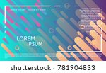 abstract minimalistic header.... | Shutterstock .eps vector #781904833