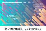 abstract minimalistic header.... | Shutterstock .eps vector #781904833