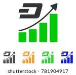 dash growth trend icon. vector... | Shutterstock .eps vector #781904917
