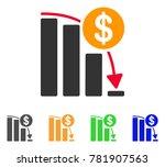 bitcoin falling acceleration... | Shutterstock .eps vector #781907563