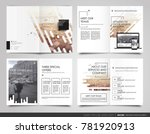 design annual report cover book ... | Shutterstock .eps vector #781920913