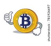 thumbs up bitcoin gold... | Shutterstock .eps vector #781926697
