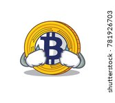 crying bitcoin gold character... | Shutterstock .eps vector #781926703
