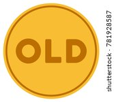 old caption golden coin icon.... | Shutterstock .eps vector #781928587