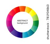 abstract circle background.... | Shutterstock .eps vector #781934863