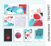 collection of creative... | Shutterstock . vector #781941997