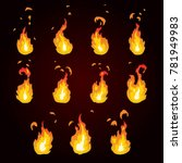 sprite sheet of fire  torch....