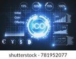creative glowing ico background.... | Shutterstock . vector #781952077