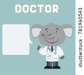 doctor elephant with bubble... | Shutterstock .eps vector #781960543