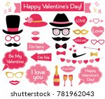 valentine s day vector photo... | Shutterstock .eps vector #781962043