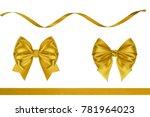 collection set of silk present... | Shutterstock . vector #781964023