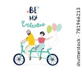 be my valentine. couple in love ... | Shutterstock .eps vector #781966213