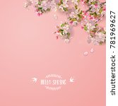 vector background with spring... | Shutterstock .eps vector #781969627