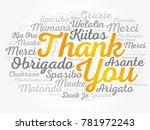 thank you word cloud in... | Shutterstock . vector #781972243
