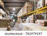 warehouse goods and shelving...   Shutterstock . vector #781979197