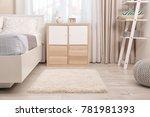 modern bedroom interior with... | Shutterstock . vector #781981393