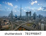 dubai downtown in the evening | Shutterstock . vector #781998847
