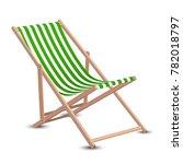 wooden beach chaise longue... | Shutterstock .eps vector #782018797