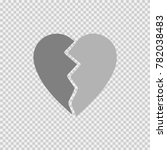 heart broken vector icon eps 10. | Shutterstock .eps vector #782038483