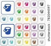 bucket color flat icons in... | Shutterstock .eps vector #782044597