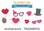happy valentines day photo... | Shutterstock .eps vector #782048953