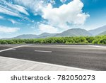 country road and mountains with ... | Shutterstock . vector #782050273