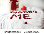 idea for marriage proposal ... | Shutterstock . vector #782066023