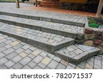 pavers colored inserted on the... | Shutterstock . vector #782071537