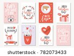 love collection with 8 cards.... | Shutterstock .eps vector #782073433